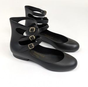 Vivienne Westwood Anglomania + Melissa black flats